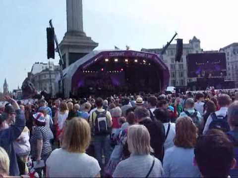 a medley of songs at  st george's day trafalgar square 2010
