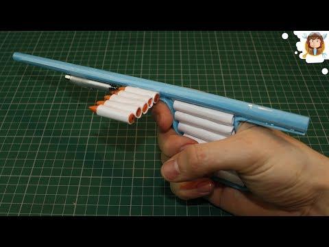 Как сделать из бумаги винтовку которая стреляет бумагой