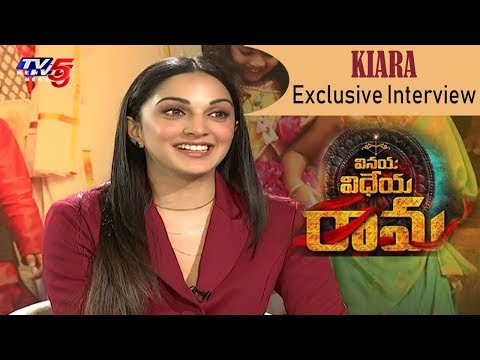 Kiara Advani EXCLUISVE Interview about Vinaya Vidheya Rama Movie | TV5