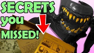 Bendy Ch5: the SECRETS you MISSED! Bendy 2 is COMING?! I'm Shook (Bendy and the Ink Machine Ending)
