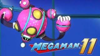 Mega Man 11 Bounce Man Boss Battle