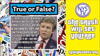 "What Did Donald Trump Say?!   ""Republicans are dumb""  True or False-  NowYouSeeTV"