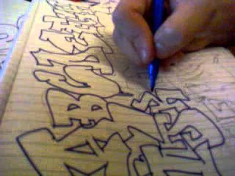 Alfabeto de Letras Graffitis Alfabeto Graffiti gb