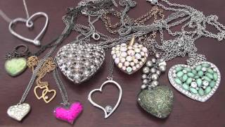 How to DIY  Heart Necklace, Pendant , Jewelry .