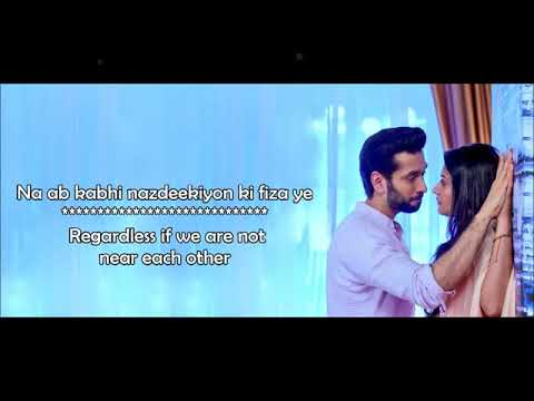 Lafzon Ka Ye Rishta Nahi   Ishqbaaz OST   Lyrical Video With Translation