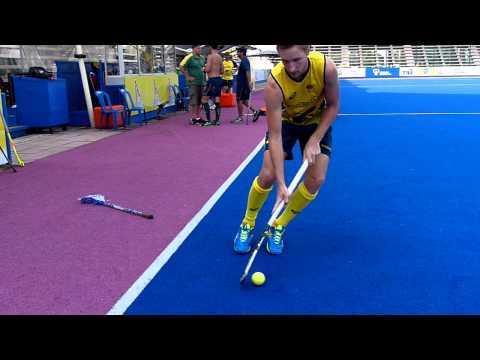 Daniel Beale 3D Skills. Australian Field Hockey Player Demonstrates His Skills