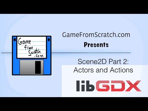 LibGDX Scene2D - Actors and Actions