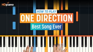 How To Play Best Song Ever by One Direction | HDpiano (Part 1) Piano Tutorial