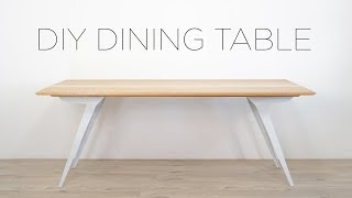 DIY MODERN DINING TABLE | OAK AND STEEL