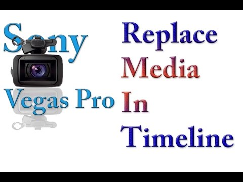 Sony Vegas Pro 13 Lesson 64 - Replace media in timeline to keep all effects