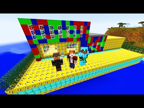 LUCKY BLOCKS RED VS BLUE VS GREEN MOD CHALLENGE - MINECRAFT MODDED MINI-GAME!