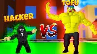 HIGHEST LEVEL vs a HACKER *WHO WINS* (Roblox Street Fighting Simulator)