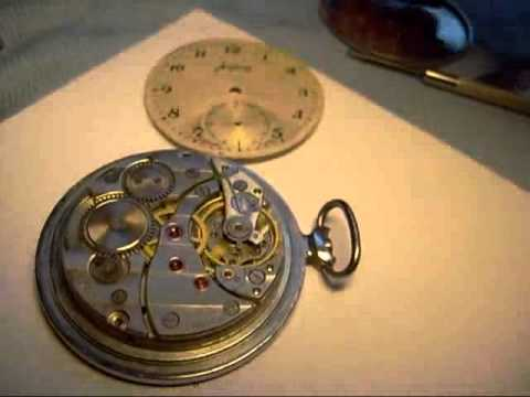 Vintage Molnija Pocket watch conversion Part1