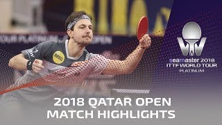 2018 Qatar Open Highlights I Timo Boll vs Lin Yun-Ju (R32)