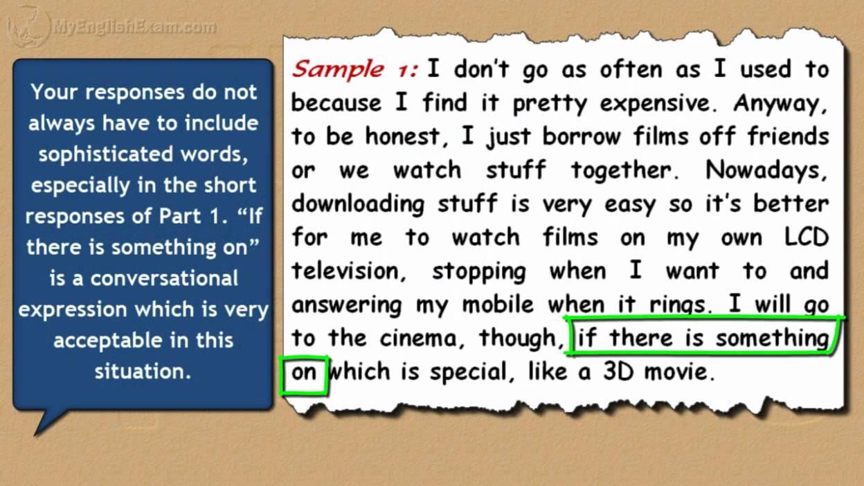 IELTS Speaking Models: 3 - Cinemas - YouTube