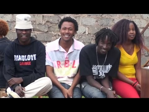 Ujinga mob at the Niko na Reason video shoot
