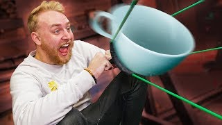 Launching Things From A GIANT Slingshot!!