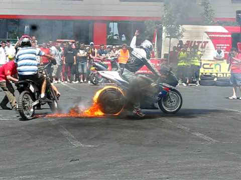 Burnout motociclete Drift ALL STAR 06-06-2010