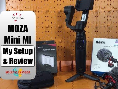 My iPhone mobile vlogging setup with the MOZA Mini MI gimbal, Boya BY MM1 & Aputure Amaran AL-M9