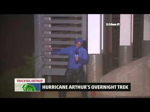 Hurricane Arthur Makes Landfall in North Carolina; First Category 2 Landfall in U S  Since 2008   we