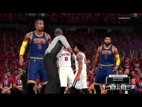 NBA 2K16 - CLEVELAND CAVALIERS VS  DETROIT PISTONS - PLAYOFFS   FIRST ROUND - HD