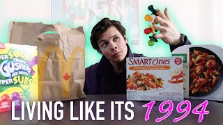 I Tried 90s Food And Diet Trends For A Day | Living Like It's 1994