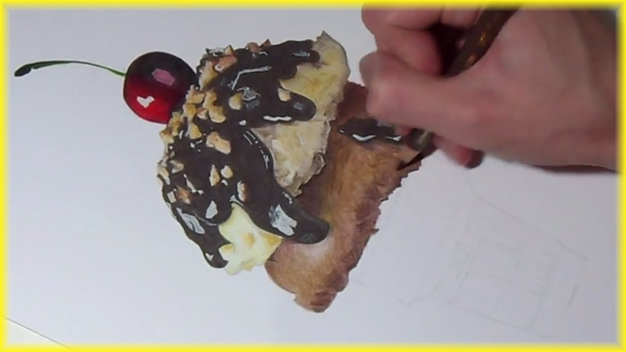 Ice Cream Drawings Drawing an Ice Cream Sundae