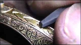 Hand Engraving Practice Watch Border Design Wheat Sheaf by Shaun Hughes