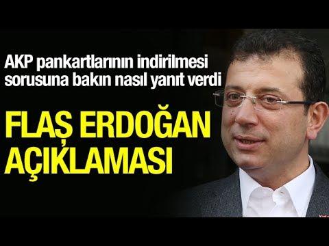 Ekrem İmamoğlu'ndan Erdoğan ve AKP pankartları açıklaması