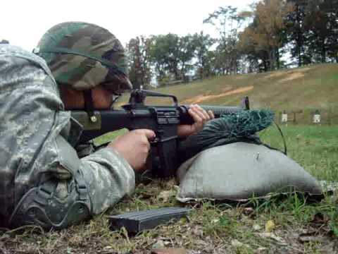 m16a2 rifle qualification youtube