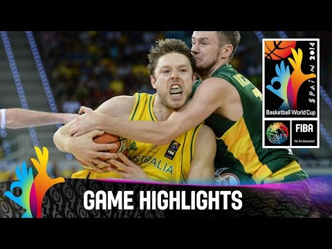 Australia v Lithuania - Game Highlights - Group D - 2014 FIBA Basketball World Cup