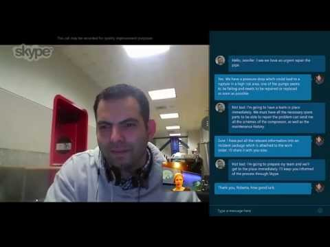 Skype Translator demo at the Global Energy Forum
