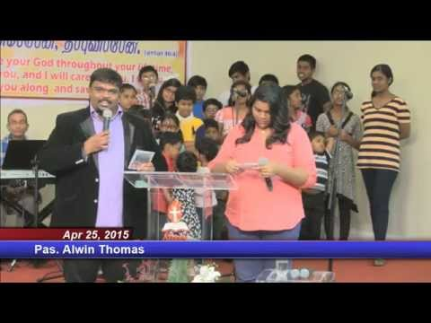 2015-04-25 Atlanta Tamil Church Special Saturday Service - Pas.alwin Thomas video