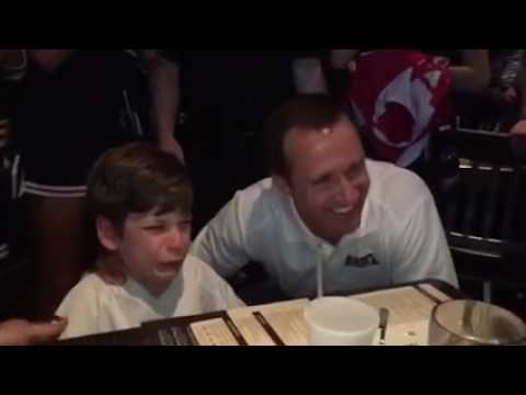 Kid With Cerebral Palsy Meets Idol Drew Brees, Bursts Into Tears