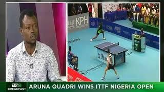 TVC Breakfast 14th August, 2018 | Aruna Quadri wins ITTF Nigeria Open