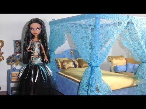 Como fazer cama para boneca Monster High Cleo de Nile e Draculaura