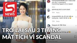 Hotgirl Trâm Anh trở lại sau ba tháng mất tích vì scandal