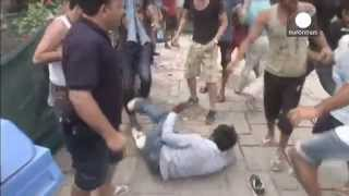 Clashes between immigrants on the island of Kos in Greece