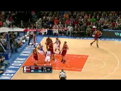 Knicks vs. Cavaliers: First Half Highlights    3.31.12