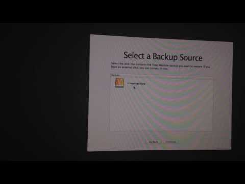 Restore Mac from Time Machine external hard drive iMac Macbook Macbook Pro Macbook Retina Display