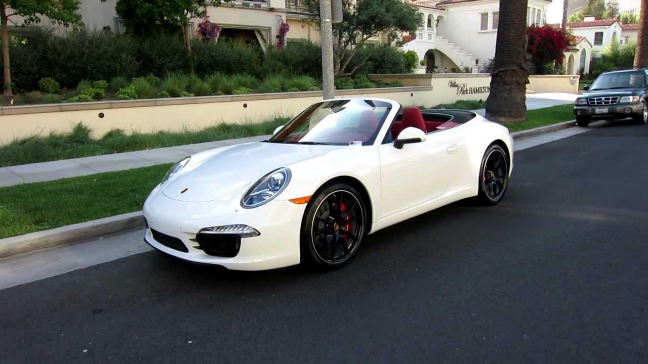 2012 Porsche 911 Carrera S Cabriolet Pdk White Carrera Red