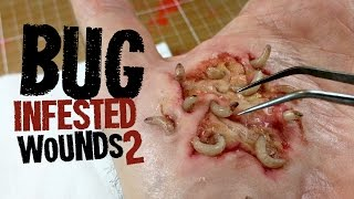 Part 2 - Bug infested wounds SFX makeup tutorial