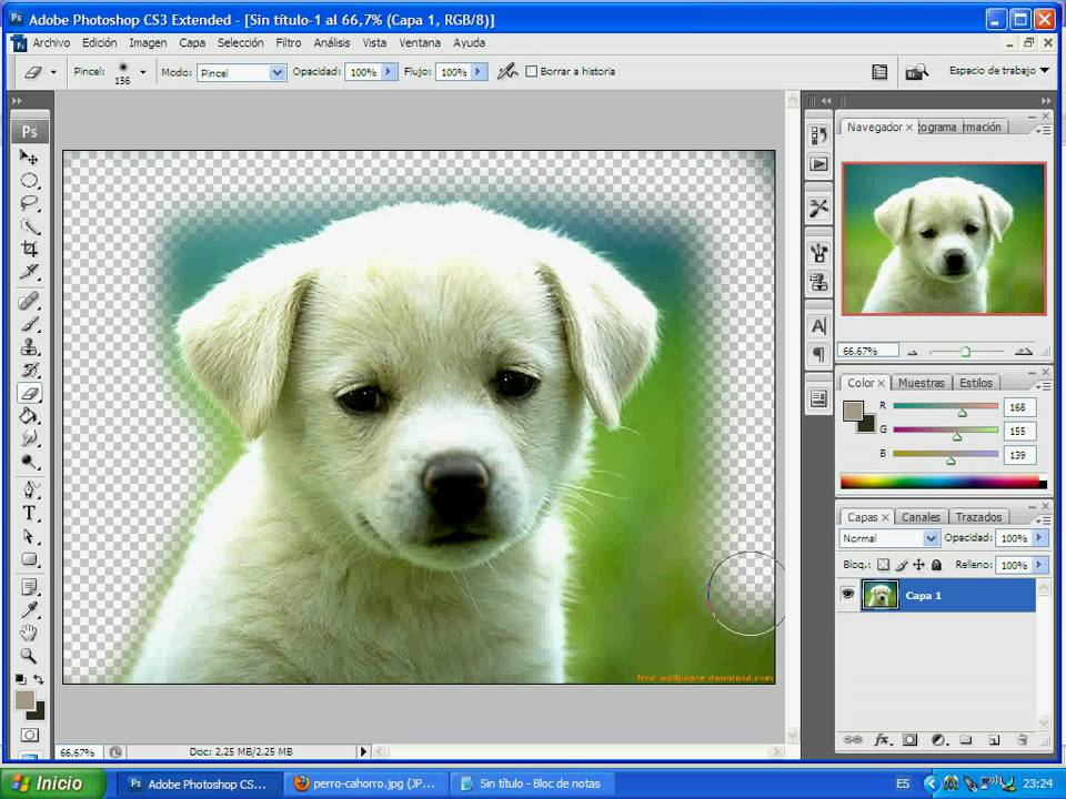 como quitar el fondo a una imagen con photoshop cs3 - YouTube