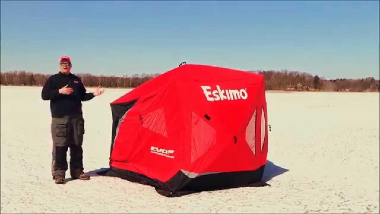 Eskimo EVO 2 Ice Shelter Setup