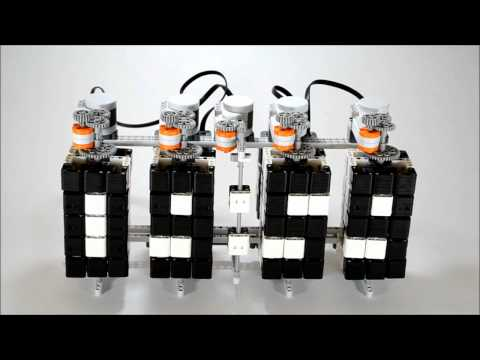 Time Twister (prototype) - LEGO Mindstorms Digital Clock