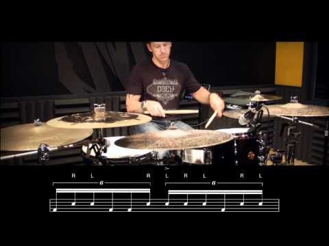 DRUM LESSON: Linear Triplet Fill by Mike Johnston