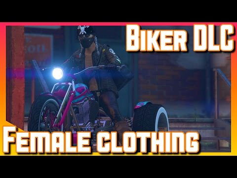 Biker DLC   Female Clothes   GTA V online Gameplay (PS4)
