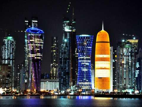 Cities of the Arabian Peninsula at Night - مدن الجزيرة العربية في الليل