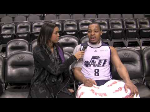 Utah Jazz Randy Foye *EXCLUSIVE INTERVIEW*