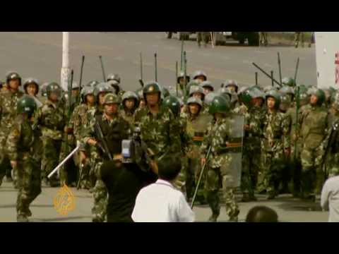 Chinese troops out in force in Xinjiang